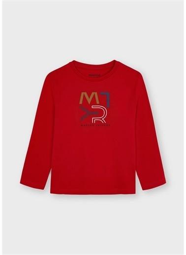 Mayoral Mayoral Erkek Çocuk Organik Pamuk Sweatshirt Kırmızı